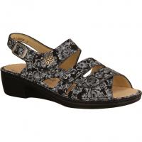 Finn Comfort Aversa Nero (schwarz) - Sandale mit loser Einlage