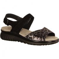 Laura L7015-001 Schwarz - Sandale mit loser Einlage