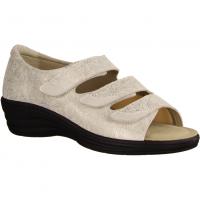 123 Elfenbein (weiß) - Sandale mit loser Einlage