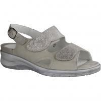 Semler Dunja D4045-028,Panna (grau) - Sandale mit loser Einlage