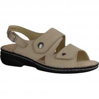 Finn Comfort Nadi Fango/Silber (beige) - Sandale mit loser Einlage