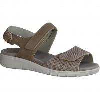 Waldläufer Merle 811001-103 Peltro (beige) - Sandale mit loser Einlage