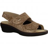 155 Beige - Sandale mit loser Einlage