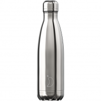 Bottle Silver 500ml Chrome (grau)