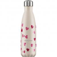Bottle Pink Heart 500ml (beige)