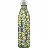 Bottle Sunflower 750ml Blau, Sonnenblumen