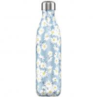 Bottle Daisy 750ml Blau, Blümchen