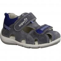 Superfit Flow 00030-25,Grau/Blau - Sandale für Jungen Baby