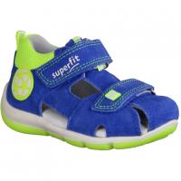 Superfit Freddy 09142-81 Blau/Gelb - Sandale für Jungen Baby