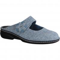 Romika Mokasso 61042-591 Aqua Kombi (blau) - offener Hausschuh