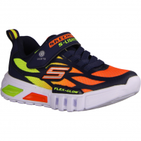 S Lights - Flex Glow 400016L-NV Navy/Orange (blau) - Sportschuh